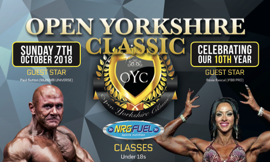 Join us for the Open Yorkshire Classic Show 7th October 2018